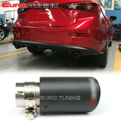Universal Car Akrapovic Style Carbon Fiber Exhaust Muffler Pipe Tip 54-76 mm
