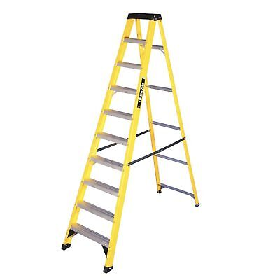Fibreglass Swingback Step Ladders - Aluminium Treads - Max Load 150kg EN131