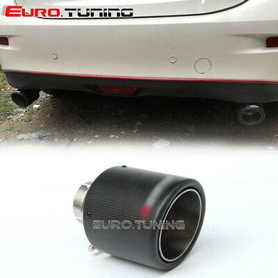 Universal Car Akrapovic Style Carbon Fiber Exhaust Muffler Pipe Tip 54-101 mm