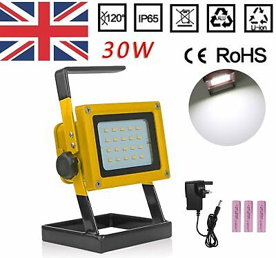 30W Work Light Portable Outdoor LED Floodlight Rechargeable IP65 Workshop Lamp