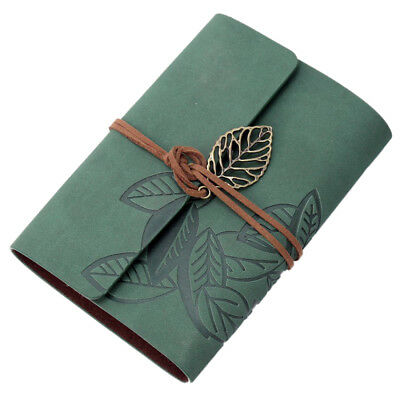 Notebook memo pad diary book Leather PU Mobile sheets Cordon Vintage 90 Pag J7G1
