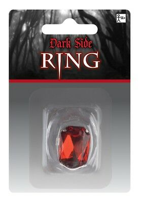 FANCY DRESS Adults Halloween Red Ring Accessory