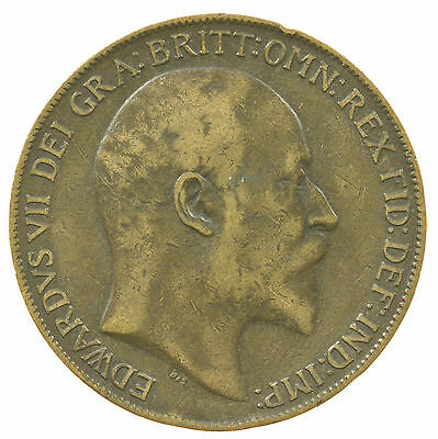 Great Britain, Edward Vii Penny, 1910