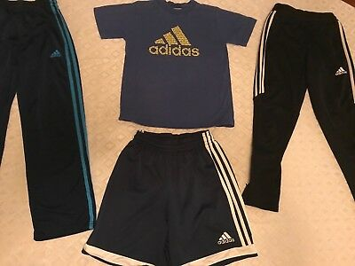 boys lot Adidas mixed athletic clothing sz S /8 Great condition!!