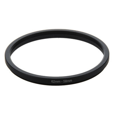 62mm-58mm 62mm to 58mm Black Step Down Ring Adapter For Camera H7P3