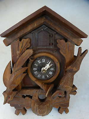 Black Forest, German Wood Carved,  Cuckoo Clock