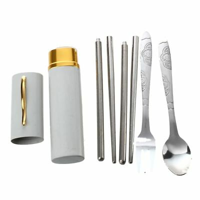 Stainless Steel Fork Spoon Chopsticks Set Q6R7