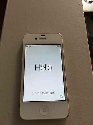 Apple iPhone 4 GSM AT&T 8GB White factory unlocked Smartphone Cellphone