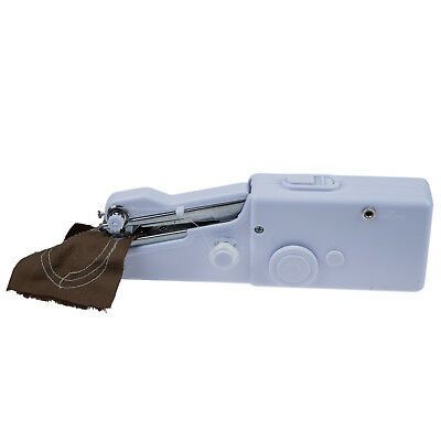 White Portable Lightweight Handheld Sewing Machine for Quick Repairs and Me H1S8