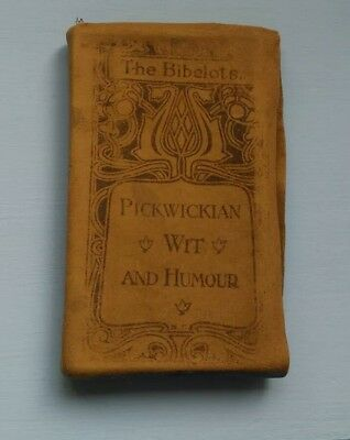 Antique Book: Pickwickian Wit and Humour The Bibelots Suede 1903 Charles Dickens