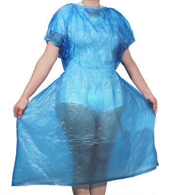 Medical Nurse Dress Salon Gown Cape Schurze PVC Vinyl ABDL Plastic Adult Baby