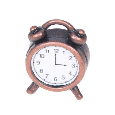 1/12 Dollhouse Miniature Living Metal Alarm Clock O4G4
