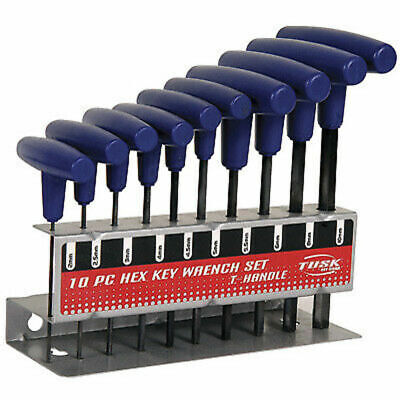 Tusk 10 Piece Hex Key Wrench Set-Dirt Bike, ATV,Motorcycle,Metric