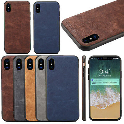 Luxury Retro Vintage Classic Slim Pu Leather Back Case Cover For iPhone 8/7 Plus