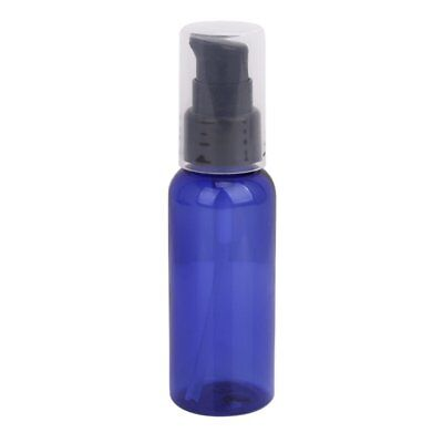 3 x 50ML Refillable Lotion Cream Treatment Pump Bottle with Cap - Blue and T0T5