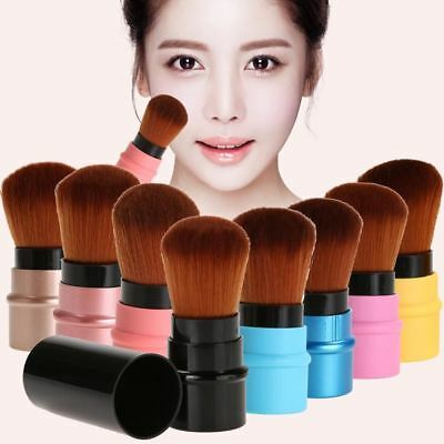 Portable 1PC Retractable Blush Makeup Brush Retractable Pro Foundation Cosmetic