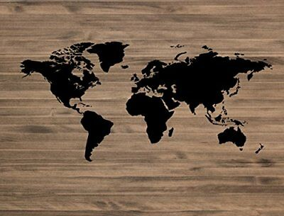 decowood dcw05 testiera 'World Map', Legno, Multicolore, 105 x 3 x (J4h)