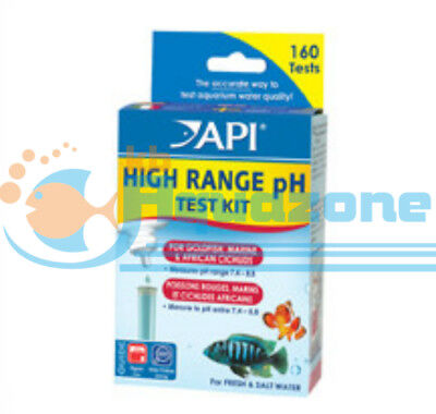 *API* HIGH RANGE pH TEST KIT FOR GOLDFISH MARINE AND AFRICAN CICHLIDS 160TESTS