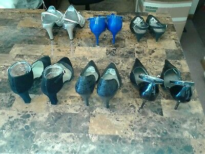 6 pairs of womens shoes size 10