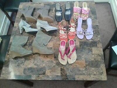 lot of womens shoes, 8 pairs, size 10