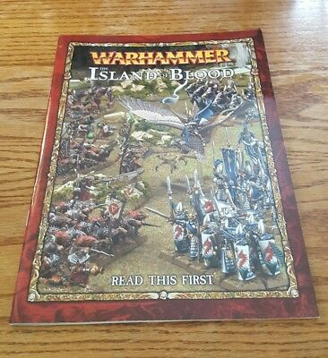 """Warhammer: The Island of Blood """"Read This First"""" Book Only - miniatures game OOP"""