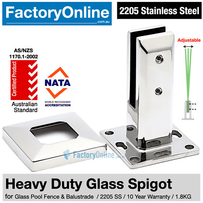 Heavy Duty 2205 Stainless Steel Glass Spigots Glass Pool Fence Balustrade Clamp