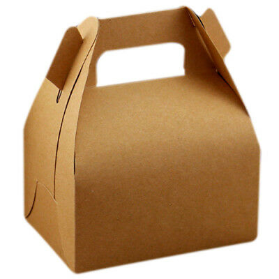 5pcs Kraft Paper Lucky Party Gift Regal Goody Bags Cupcake Muffins Cake Box V8X5