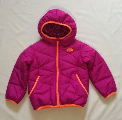 NWT The North Face Girls Size 3T Reversible Perrito Jacket Pink
