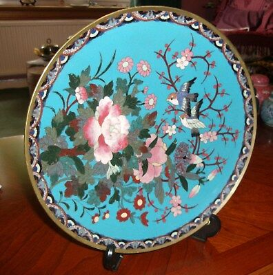 Old Chinese Cloisonne Wall Hanging Plate,  1930's,