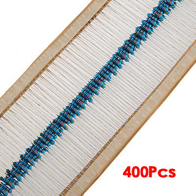 1/4w 5% Metal Film Resistor Kit 400pcs 40 Values Assortment/Pack/Mix/Select F8F1