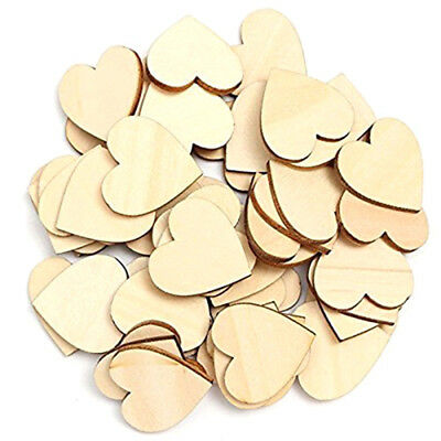 50 pieces empty wood heart decorations for DIY crafts, main decoration 6cm U6M1