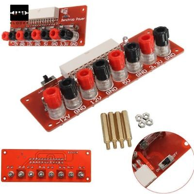 24 ATX Labortisch Platte Rechner stk. Stromversorger Breakout Adapter Modul UK