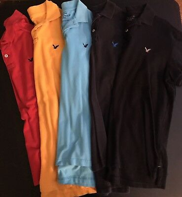 Lot Of 5 American Eagle Polos Mens Large