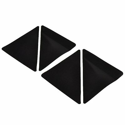 4 pcs/set 15*7.5cm Reusable Triangle-shaped Anti-skid Rubber Floor Carpet M W6E8