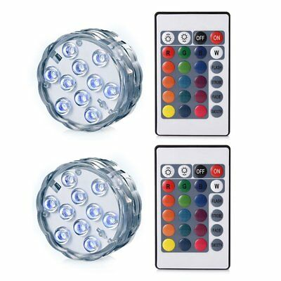2 Pieces Remote control waterproof diving lights Underwater Lights LED Mult D5R2