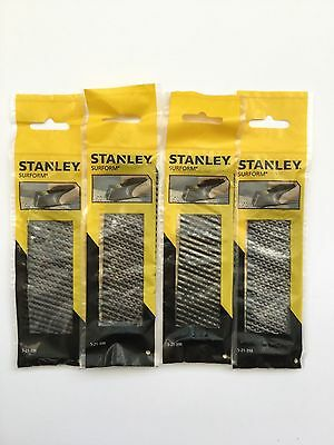 4 X Stanley 140mm surform blade great for dryliners 5-21-398 wood/plasterboard