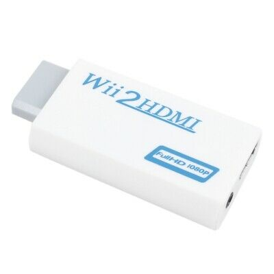 New White Wii to HDMI Converter 480P 3.5mm Audio Converter Adapter Box Wii- U0S8