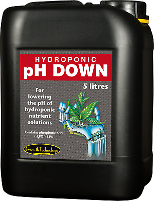 Growth Technology pH Up And Down  Hydroponics 250ml 1, 5 Litre