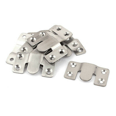 Furniture Sectional Interlock Style Sofa Connector 10pcs Silver Tone R0C5