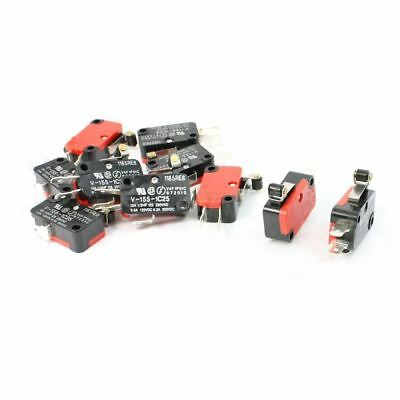 10 Pieces Mini Model Switch no: V-155-1C25; Actuator Type: Short Roller Lev O5A2