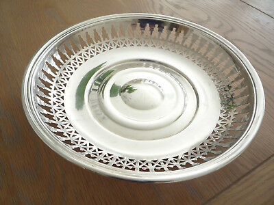Christofle Silver Plated Circular Fruit Bowl With Pierced Decoration