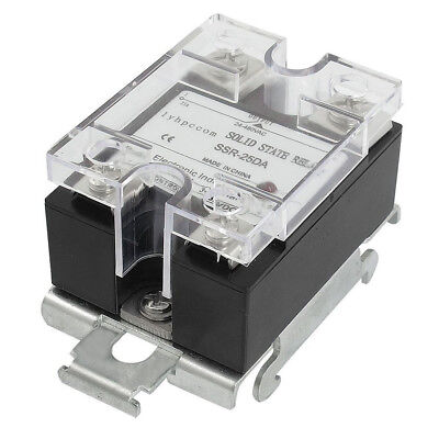 RUIKE lycom DC to AC DIN Rail Mount Covered Solid State Relay SSR-25DA 25A T0T1