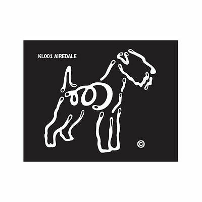 Airedale K-Lines Dog Car Window Tattoo Decal Sticker