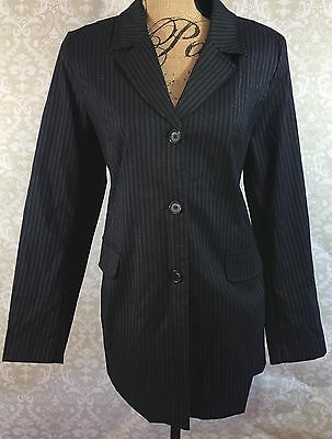 Motherhood Maternity - Blazer, Navy Blue Pinstripe, Size M