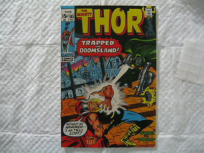 The Mighty Thor #183 VF+ OW (1970)