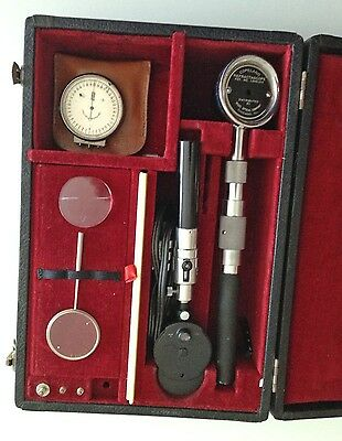 Vintage B & L Ophthalmoscope & Copeland Refractascope 1940s Eye Optic Optometry
