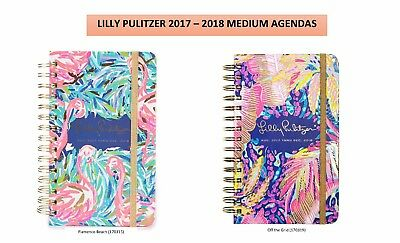 BRAND NEW!!! Lilly Pulitzer Medium and Large 2017-2018 Agendas - FREE SHIPPING