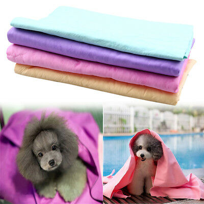 Pet Cleaning Drying Towel PVA Synthetic Chamois Dog Puppy Cat Bath Shower Wipes