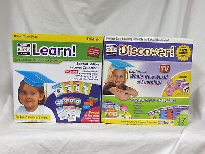 Your My Baby Can Learn Read and Your Child Can Discover 2 Sets BRAND NEW