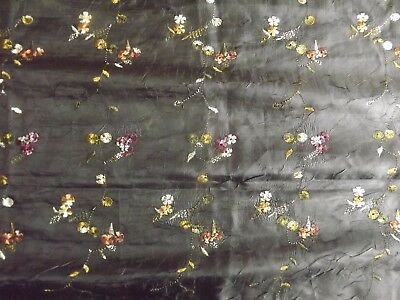 Antique Shawl Silk Double Sided Embroidery  60X24In Chinese ? Undamaged